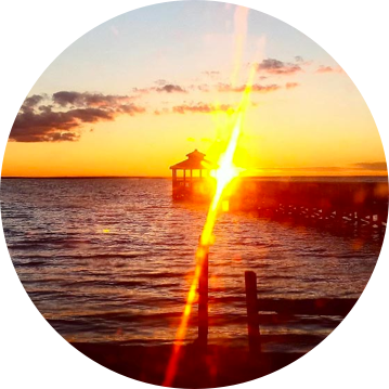 image of the pier at sunset at our substance abuse rehabilitation center in NC