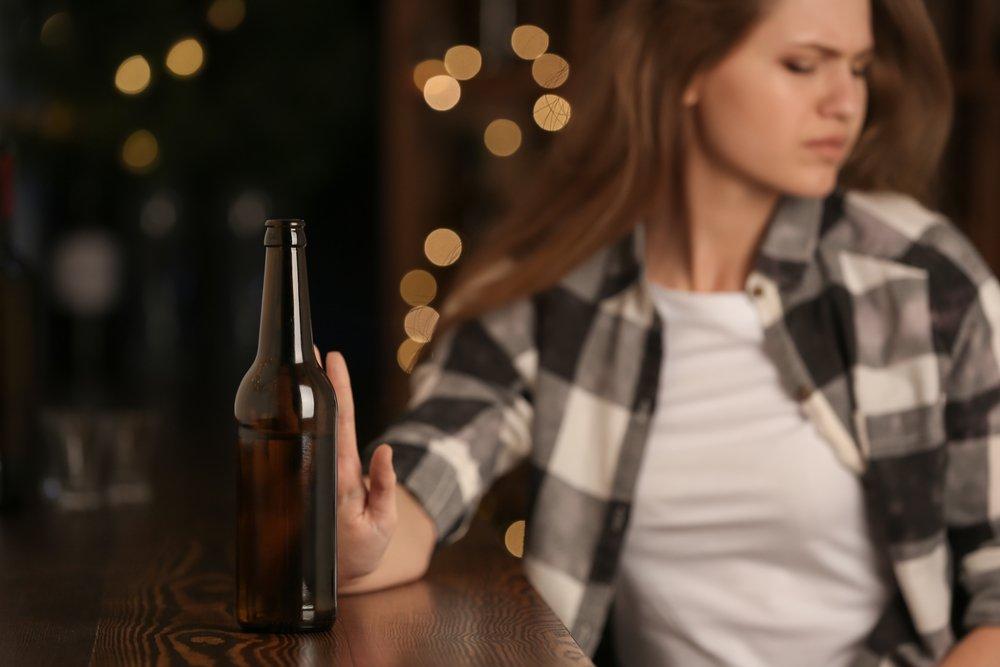 Women Quits Drinking